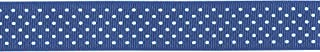 product image for Offray, Century Blue Grosgrain Swissdot Craft Ribbon, 5/8-Inch x 9-Feet, 5/8 Inch