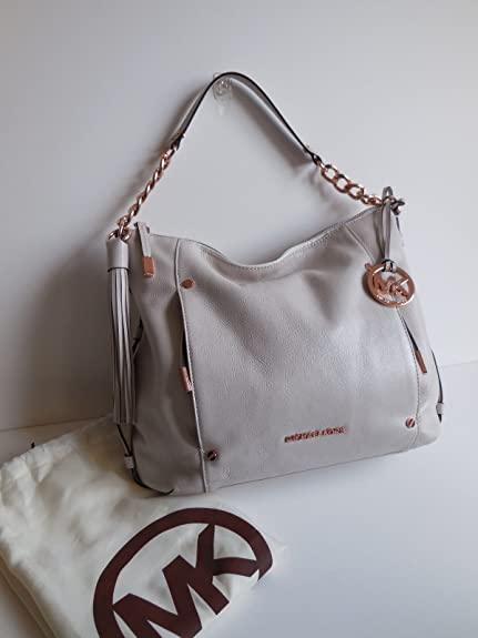 a8ed8df9db42 ... Amazon.com Michael Kors Devon Large Ew Shoulder Tote Genuine Leather  Vanilla Rose Gold Shoes ...