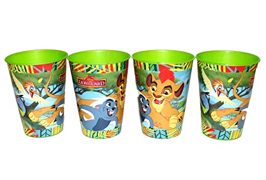 4 pieza Disney La Garde el León Vaso Zumo Vasos Set: Amazon ...
