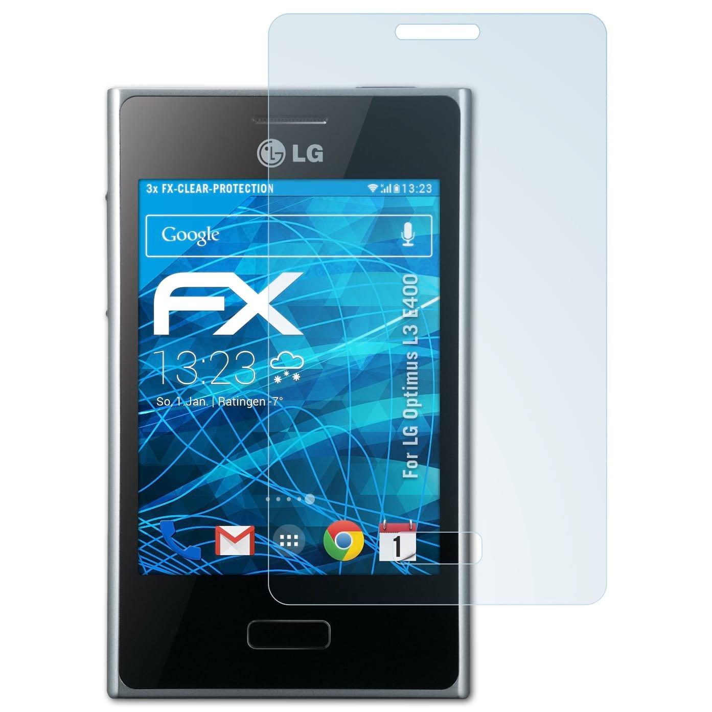 atFoliX Lámina Protectora de Pantalla para LG Optimus L3 (E400) Película  Protectora: Amazon.es: Electrónica