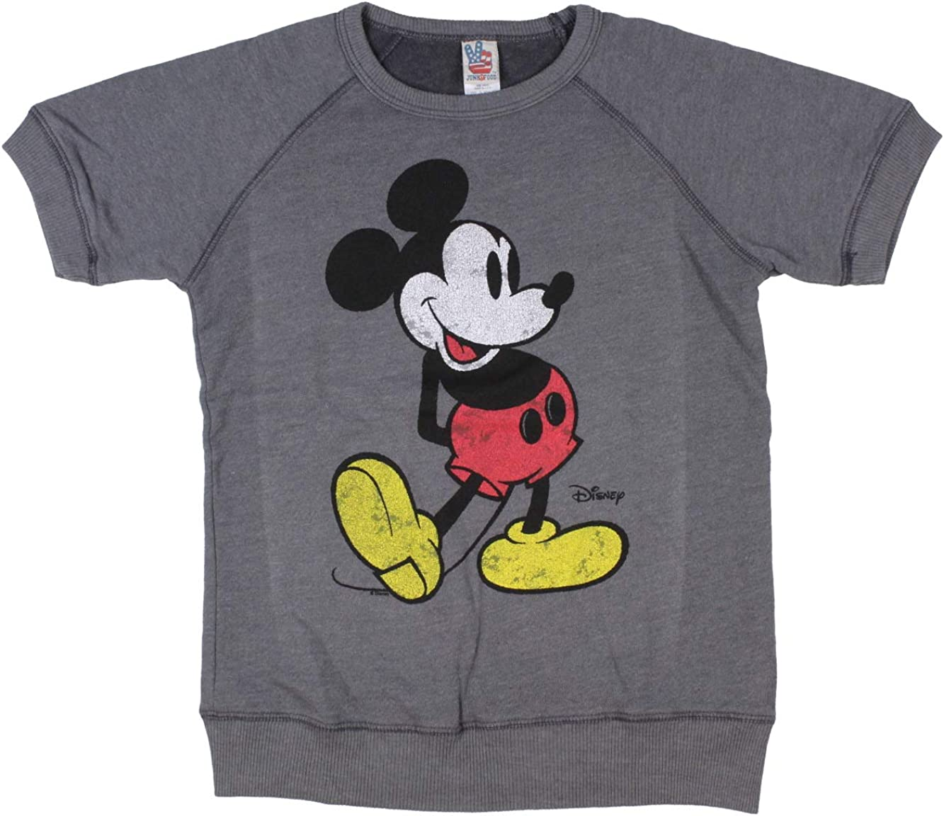 Disney Junk Food Girl's Mickey Mouse Terry Short Sleeve Pullover
