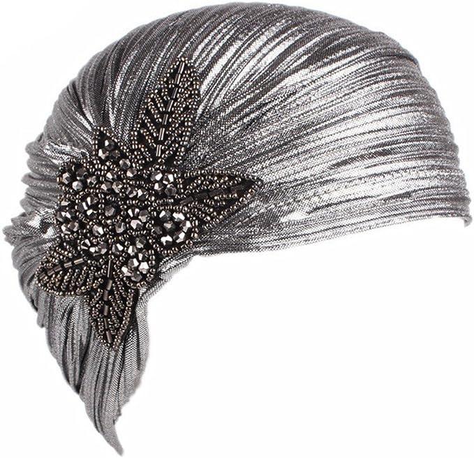 CHUANGLI Women's 20S Gatsby Turban Hat
