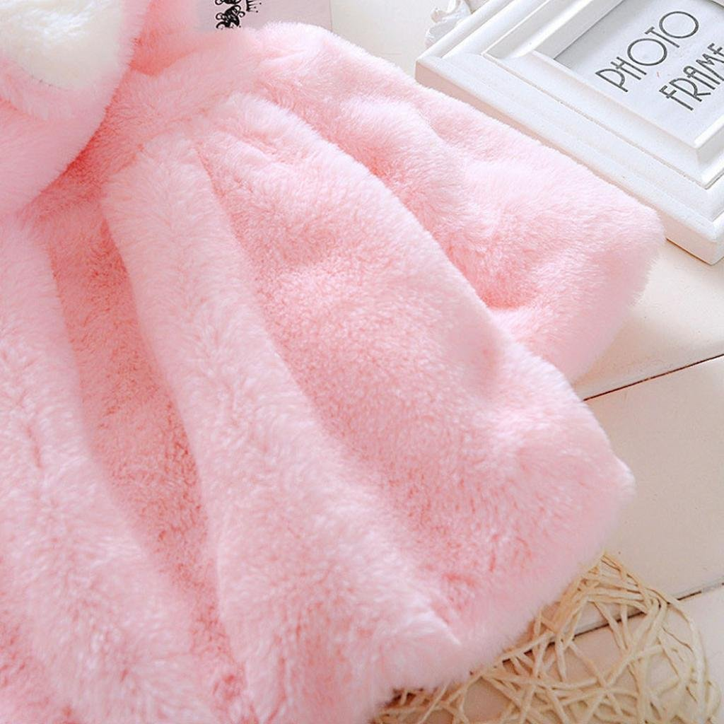 Gillberry Baby Infant Girls Fur Winter Warm Coat Cloak Jacket Thick Warm Clothes