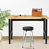 """Goplus Adjustable Workbench, 48"""" 1500 Lbs Bamboo"""