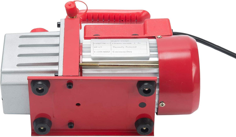 4.5 CFM Single Stage Vacuum Pump with 3 Way AC Gauge