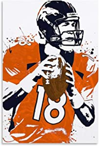 American Football Player Peyton Manning Sport Poster Poster Decorative Painting Canvas Wall Art Living Room Decor Posters Bedroom Painting 24x36inch(60x90cm)
