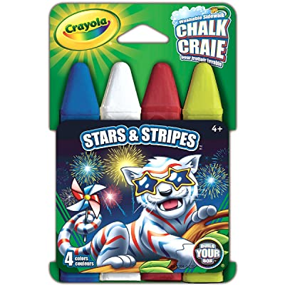 Crayola Build Your Box Stars & Stripes Chalk (4 Count): Toys & Games
