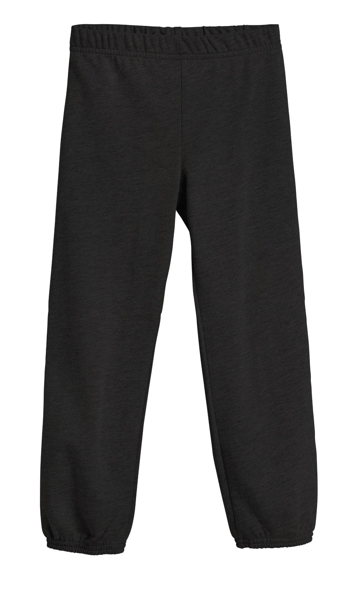 City Threads Big Boys and Girls' Soft Fleece sweatpant warmups Jogger Sports Sweats SPD Sensitive Friendly Clothing for Kis, Black, 12