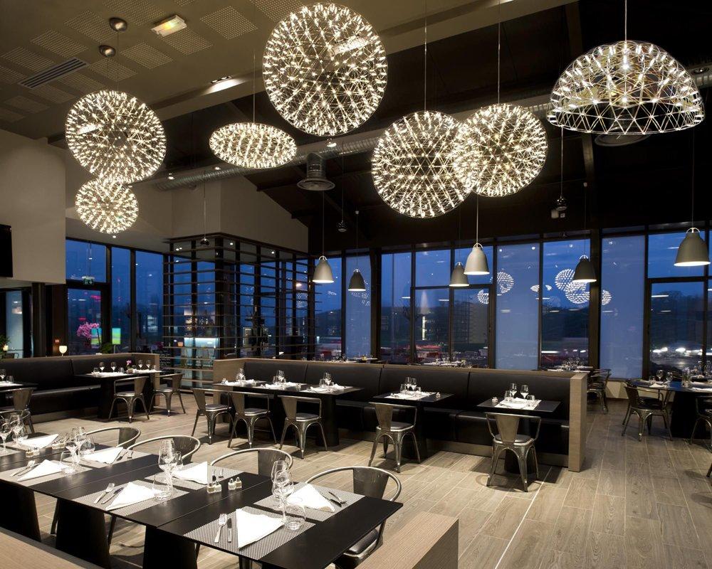 Kiven® Sparking Stars Lights Modern Style Globle Shade Stainless Steel Design Led Pendant Light Hanging Lamp Fixture Suitable for Restaurant,bedroom (Warm white 3000K) by Kiven (Image #8)