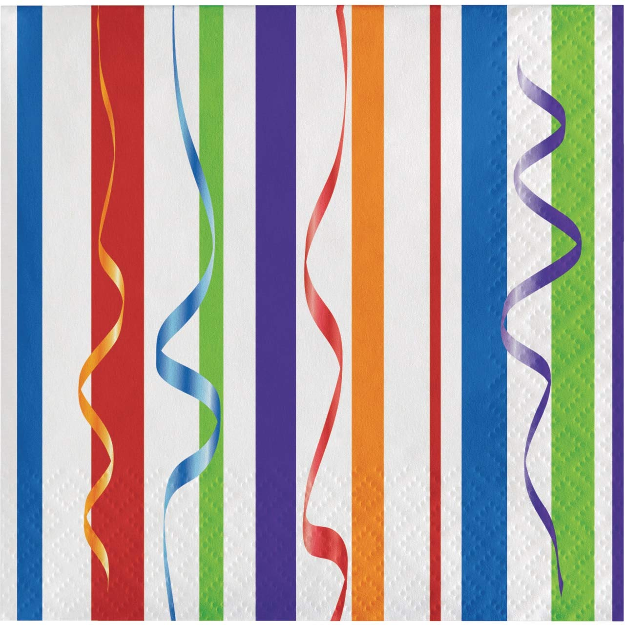 Creative Converting Celebrations 16 Count Feliz Cumpleanos Beverage Napkins, Multicolor