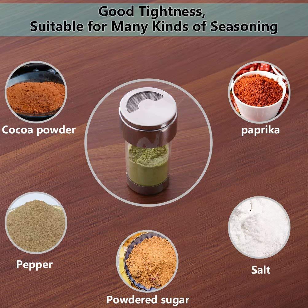 Espolvoreador Cacao Tamizador Polvo latas de caf/é Cocoa Cinnamon Powder Cappuccinos con Tapa Newness Agitadores de Polvo