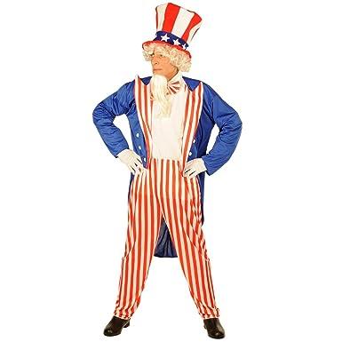 forum novelties mens patriotic party uncle sam costume multi small - Yosemite Sam Halloween Costume