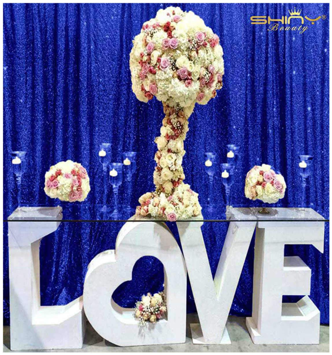 Bride S Choice 6ftx6ft Royal Blue Sequin Photo Booth Wedding Decoration Fabric Baby Shower Royal Blue Sequin Backdrop Sequin Tablecloth Sequin