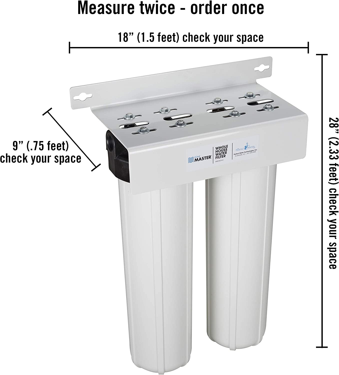 Home Master Whole House Water Filter 2 Stage Fine Sediment Carbon Filter Undersink Water Filtration Systems Amazon Com