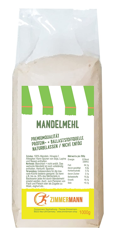 Mandelmehl 1000g - naturbelassen - nicht entölt - Hoher ...