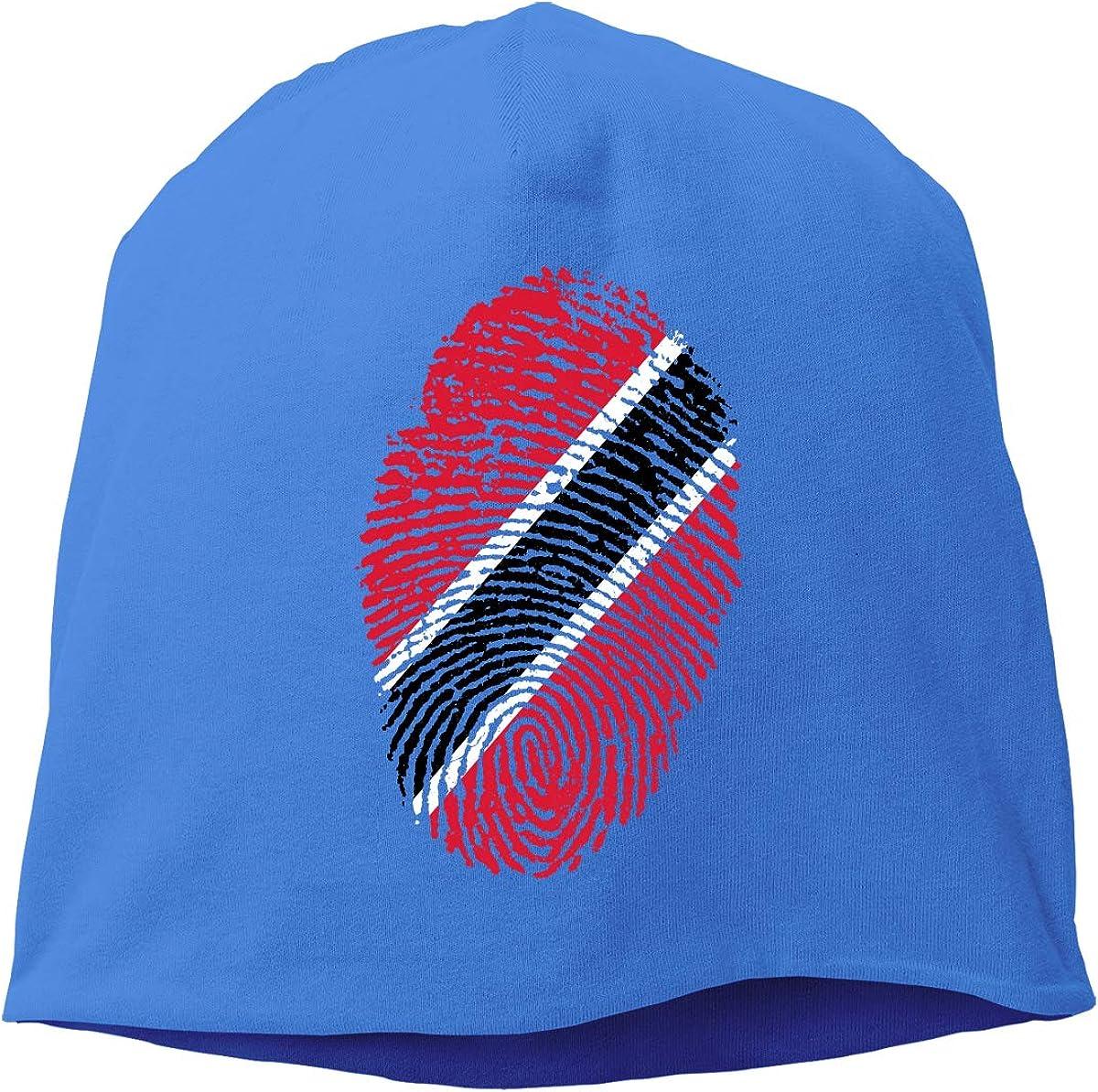 SHA45TM Trinidad Flag Fingerprint Men Women Winter Skull Cap Running Beanie Hat