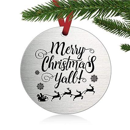 Merry Christmas Yall.Amazon Com Merry Christmas Yall Christmas Ornament Holiday