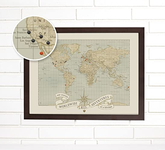 Amazon world push pin travel map art dreams and memories handmade world push pin travel map art dreams and memories gumiabroncs Images