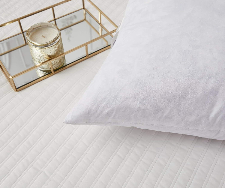 SE200901K Serta Feather Euro Pillows 26x26 Set of 2 Standard//White 26 L X 26 W