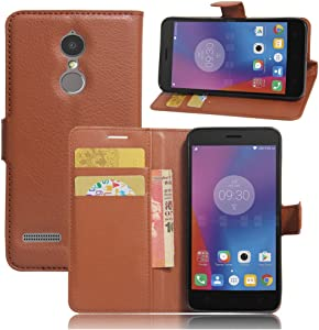 Lenovo K6 Case–Manyip PU Leather Stand Wallet Flip Case Cover for Lenovo K6,Business Style Phone Protection Shell,The case with[Cash and Card Slots]