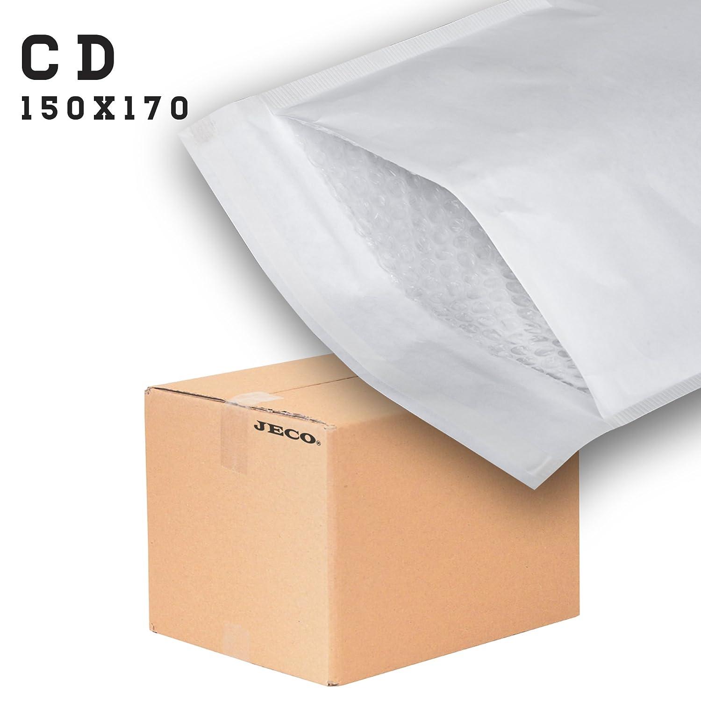 100 Enveloppes /à bulles dair pochettes matelass/ées dexp/édition PRO format CD int JECO 150 x 170 mm