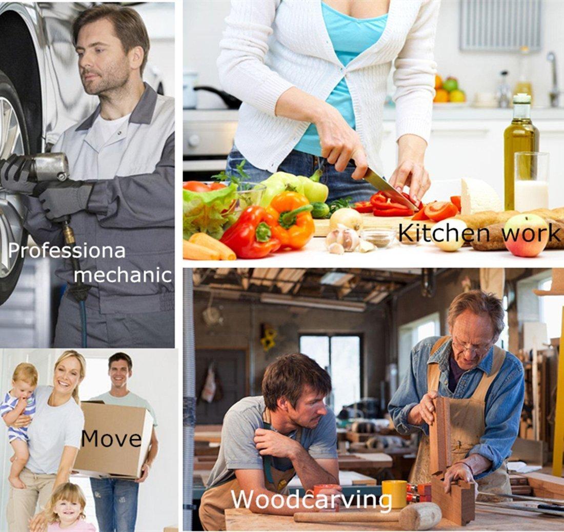 Ruicer Schnittschutzhandschuhe Handschuhe Küchehandschuhe Schnittschutzklasse Hochleistung 5 Handschutz Ebene für Küche Baustelle Gartenbau M 1 Paar