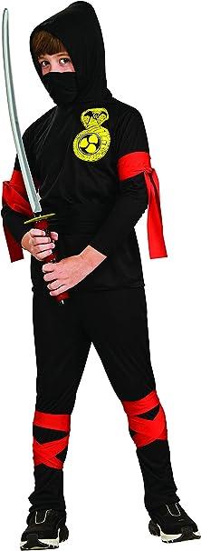 Rubies - Disfraz de ninja para niños, color negro, 5-7 años ...