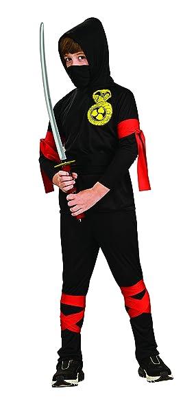 Rubies - Disfraz de ninja para niños, color negro, 3-4 años ...