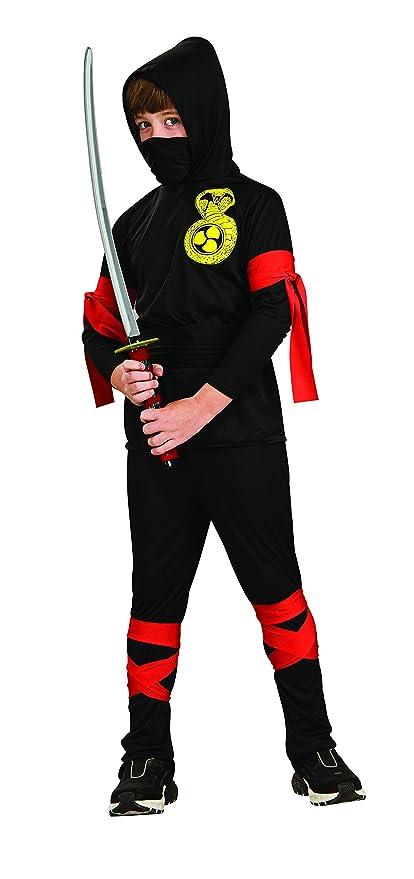 Rubies - Disfraz de ninja para niños, color negro, 3-4 años (12109-S)