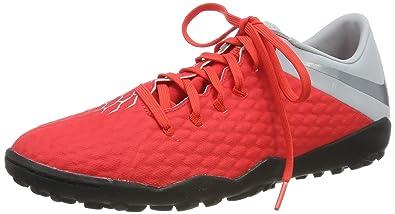 on sale 4dbe9 f16f6 Nike Men's Hypervenom 3 Academy Turf Soccer Shoes (Crimson/Grey)