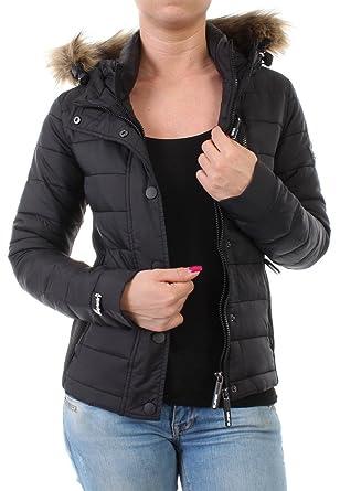 competitive price aba2a 324f9 Superdry Jacke Women FUJI SLIM DOUBLE ZIP HOOD Black, Größe ...