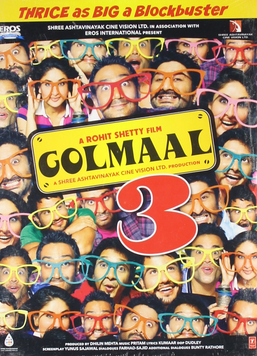 1f7f42fb4f Amazon.com  Golmaal 3 Bollywood DVD With English Subtitles  Kareena Kapoor