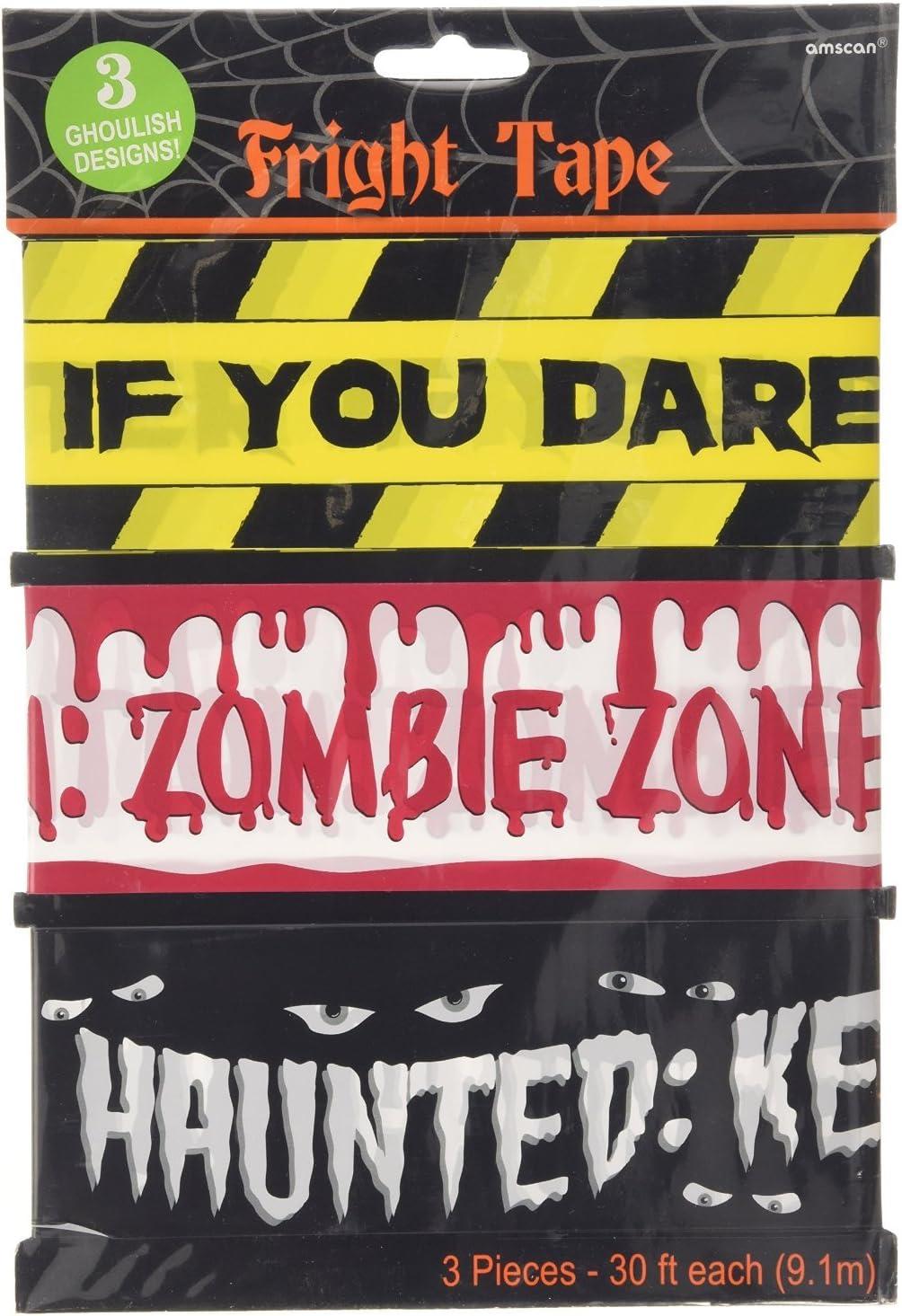 Groupe TK Timo Klingler 1x Ruban de Protection Bande de barri/ère de Sang 6.1 m/ètres ALS D/écoration Halloween D/écoration Halloween Party Caution Zombie Zone