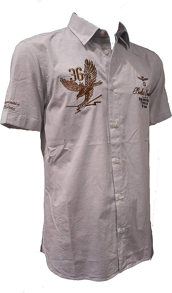 Aeronautica Militare Camisa CA1115 Azul, Jersey, Hombre, Sudadera ...