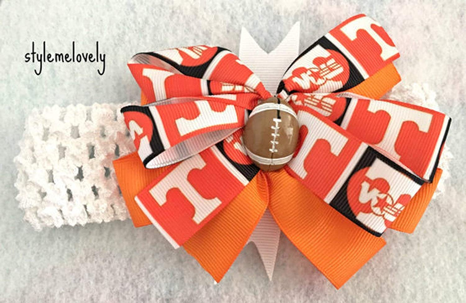 Tennessee Vols Baby Girl Boutique Bow Crocheted Headband