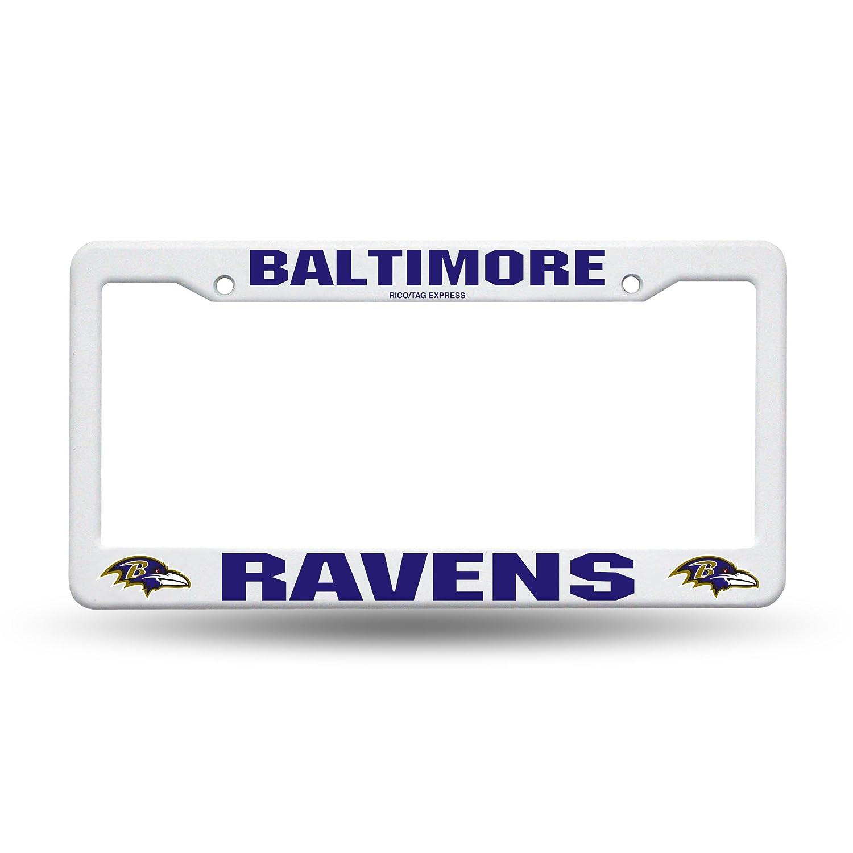 Baltimore Ravens White Plastic License Plate Frame