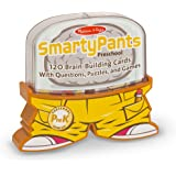 Melissa & Doug Smarty Pants Preschool Card Set Educational Activity With 120 Brain-Building Questions, Puzzles, and Games