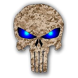 Punisher Skull Desert digital camouflage sticker / decal
