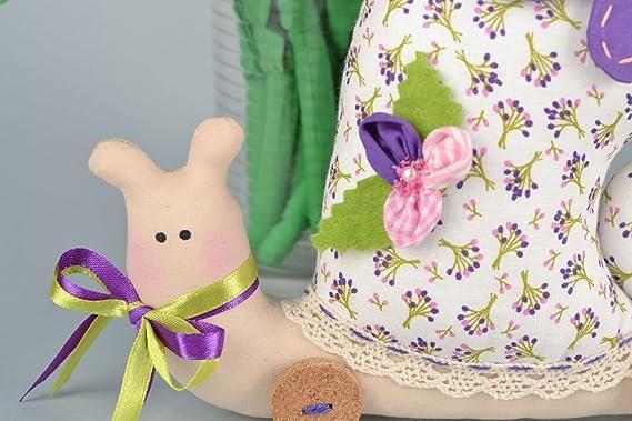 Arreglo floral de flores de tela y muneco de trapo: Amazon.es: Juguetes y juegos
