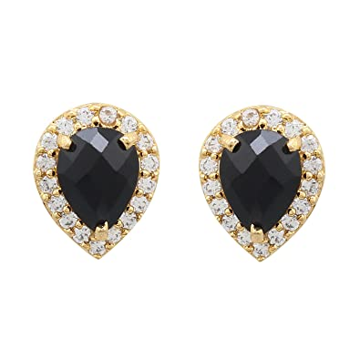 694e882a7 Buy Orchids Sutraa Designer stud stone earring Set in Black stone for women    girls. Online at Low Prices in India