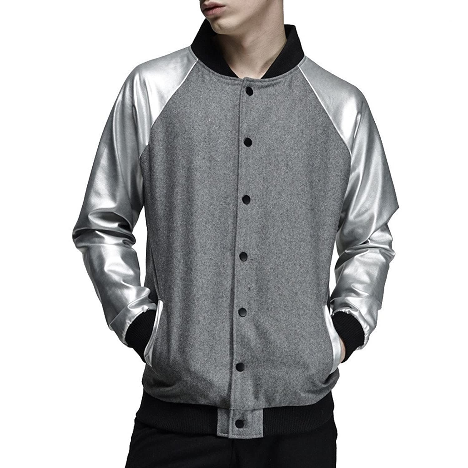 VIISHOW Men Sport Baseball Jacket