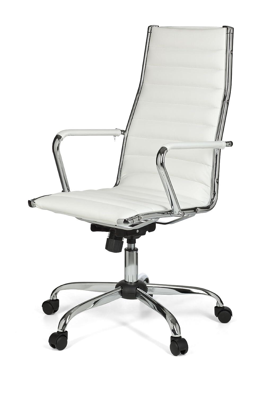 Bürostuhl weiß ohne rollen  AMSTYLE, Bürostuhl, SPM1.114, GENF 1 Bezug Kunstleder Weiß Design ...