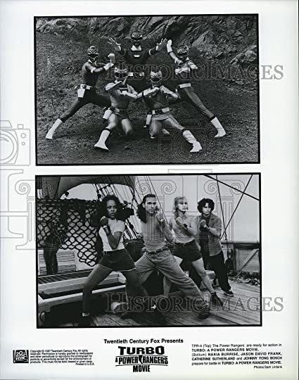 1997 Press Photo Turbo Power Rangers Movie Nakia Burrise Jason david Frank