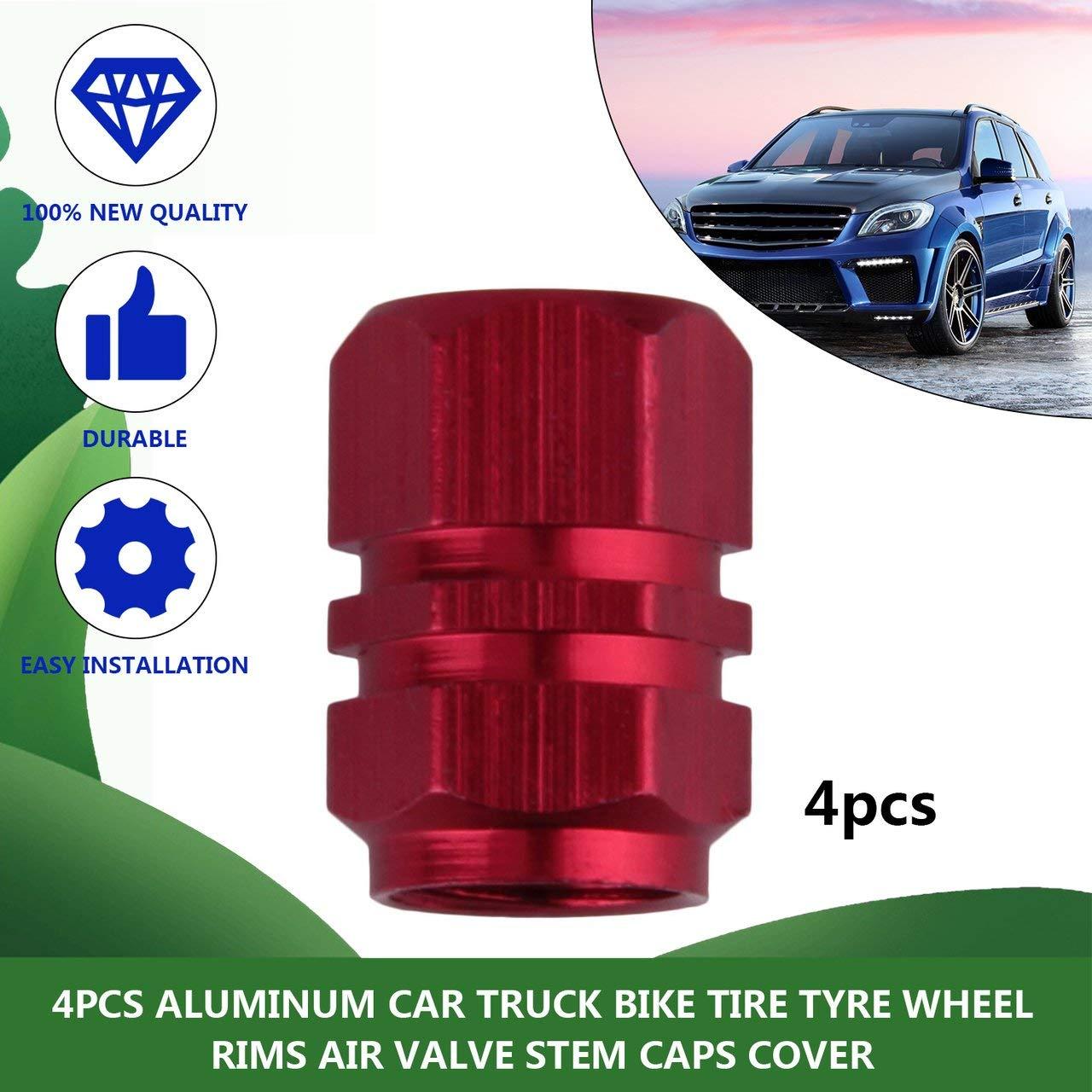 4 Pcs Compact Aluminum Car Truck Motocycle Bike Tire Tyre Wheel Rims Air Valve Stem Caps Cover Tyres Accessories
