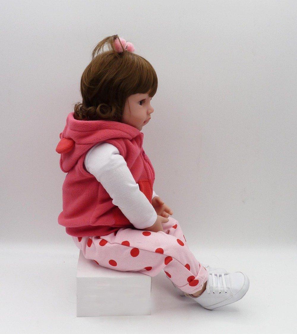 Reborn Baby Dolls Girl Reborn Dolls 18 inch Soft Silicone Vinyl Doll Adorable Realistic Newborn Toddler Doll