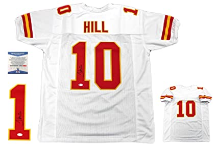 sale retailer 995c1 90feb Tyreek Hill Autographed Signed Jersey - Beckett Authentic ...