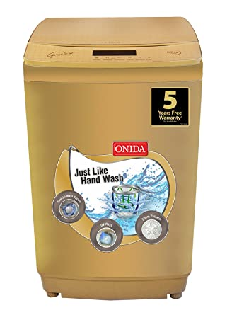 Onida 8.5 kg Fully-Automatic Top Loading Washing Machine (T85GRDD, Gold)