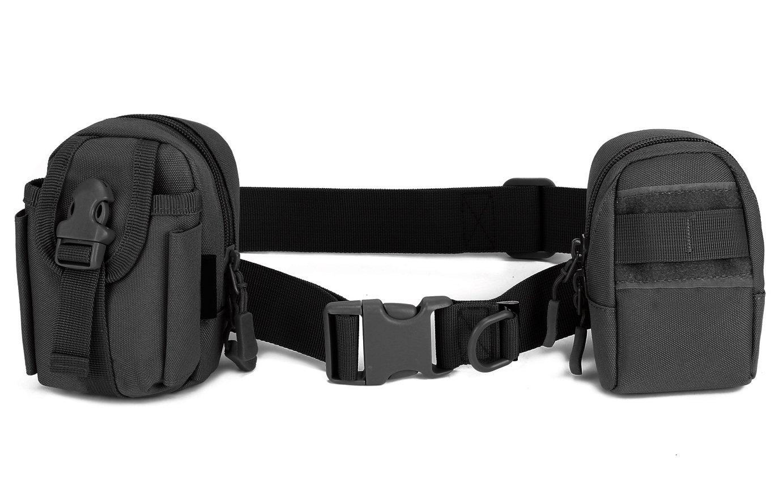 DCCN Cintur/ón t/áctico Ajustable militar Cintur/ón de seguridad Acoplamiento Molle de servicio con cierre de clic