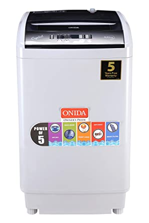 Onida 6.2 kg Fully-Automatic Top Loading Washing Machine (T62CG, Grey)