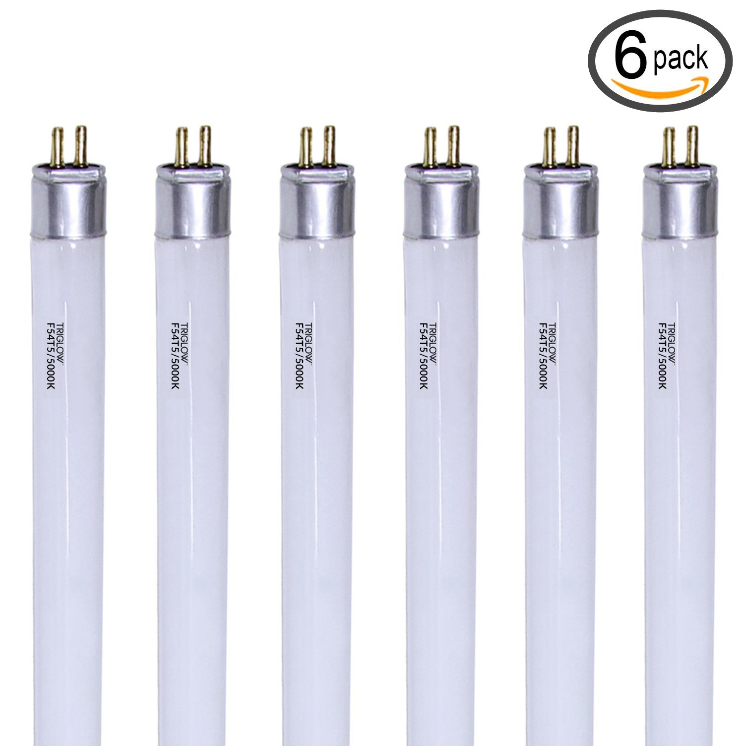 TriGlow (Pack of 6) F54T5/850/HO 54-Watt T5 High Output 5000K Super White Light Bulbs